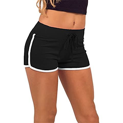 Lorata Yoga Pantalones de Mujer para Correr Deporte Gimnasio Entrenamiento Negro L
