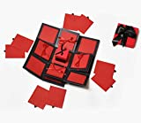 #9: Crafted with Passion red Drama Explosion Box for Birthday Love Anniversary