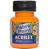 acrilex 37ml Fluorescente Pintura de tela, color negro