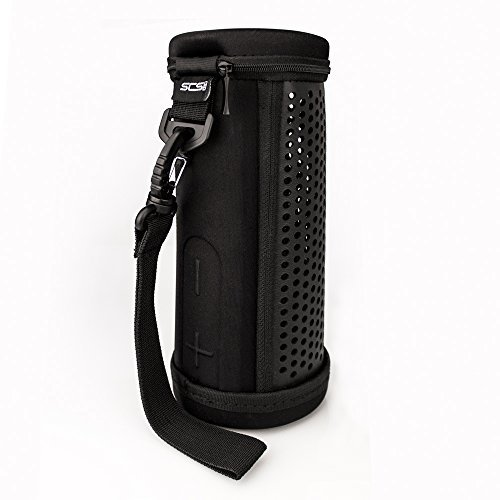 SCS etc. altavoz portátil Case–Funda de piel sintética bolsa de viaje para altavoz inalámbrico Bluetooth altavoz (disfruta de la música mientras que la UE en el caso)