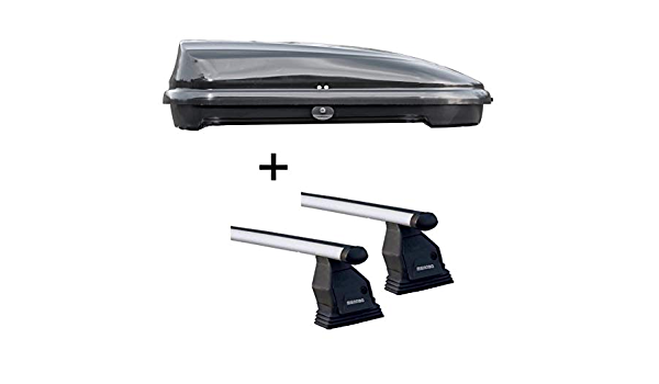 Dachbox VDPFL320 schwarz gl/änzend 320 Ltr Dachtr/äger Menabo Tema kompatibel mit Honda Jazz 2007-2013 Aluminium