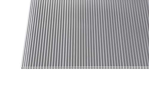 Polycarbonat Stegplatten Hohlkammerplatten klar 10 mm (2500 x 1050 x 10 mm)