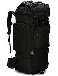 Z&N 65-75L al aire libre de gran capacidad bolsa de alpinismo camping bolsa de camping saco de excursión cubierta impermeable bolso de hombro de camuflaje mochila militar mochila táctica lágrimaB65L