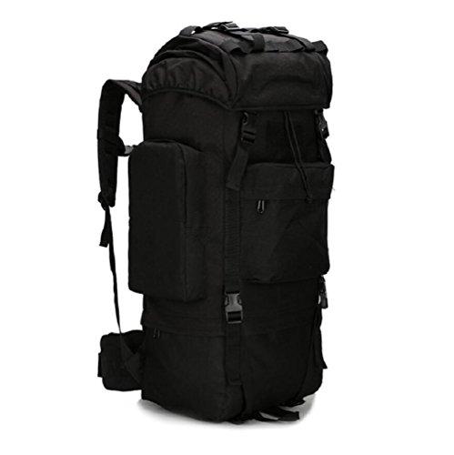 Z&N Outdoor capienza di 65-75L borsa da montagna campeggio sacco da campeggio sacca da viaggio copertura impermeabile borsa a tracolla zaino militare zaino tatticoRipstopG65L B