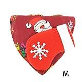 Reputedc Weihnachten Hundehalsband Hund Bandanas mit Dreieckstuch Hunde Halstuch Halsbänder Haustier Dreieck Schal Haustierhalstuch Bedrucktes Verstellbar für Kleine Mittelgroße Hunde Katze