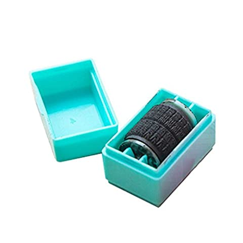Xshuai® 1Pcs Guard ID Roller Stamp SelfInking Stamp Messy Code Security for Office (Blue)