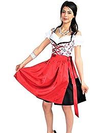 Kleid schwarz rot gold