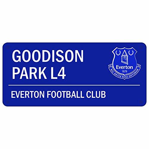 Everton FC Metall Schild , Offizieller Artikel (Einheitsgröße) (Blau) -
