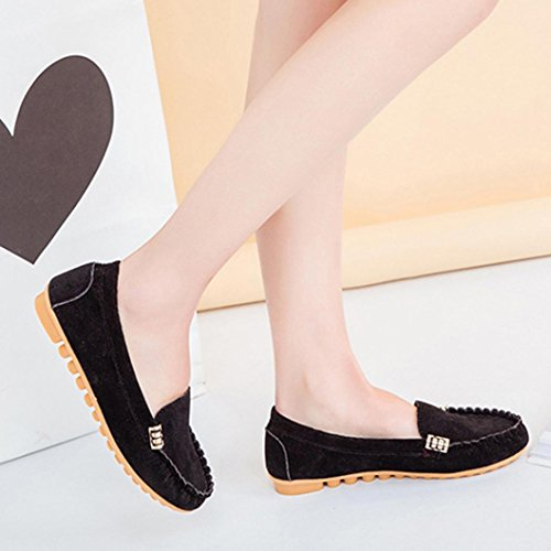 103d1c6df34 JYC 2018 Clearance Ladies Women Casual Flat Shoes Leather Loafers  Comfortable Driving Shoes Boat ...