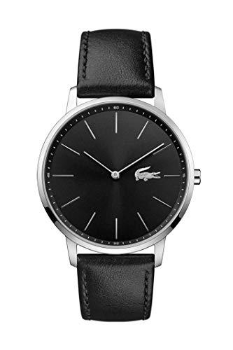 Lacoste Herren Analog Quarz Uhr mit Leder Armband 2011016