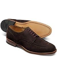Chocolate Suede Split Toe Derby Shoe by Charles Tyrwhitt