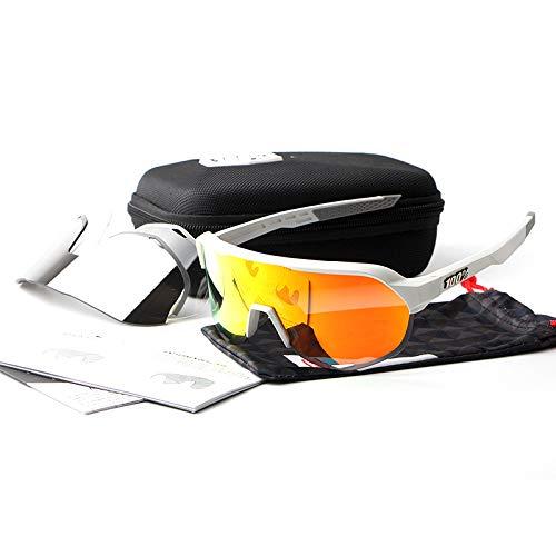 ANSKT Reitgläser dreiteilig, 6UV 400 Outdoor-Sportbrillen polarisierte Sonnenbrillen Reitbrillen, geeignet zum Skifahren von Golf-Bikes beim Fischen mit Baseball