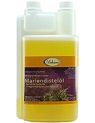 Makana ® Mariendistelöl für Tiere, kaltgepresst, 100% rein, 1000 ml Dosierflasche (1 x 1 l)