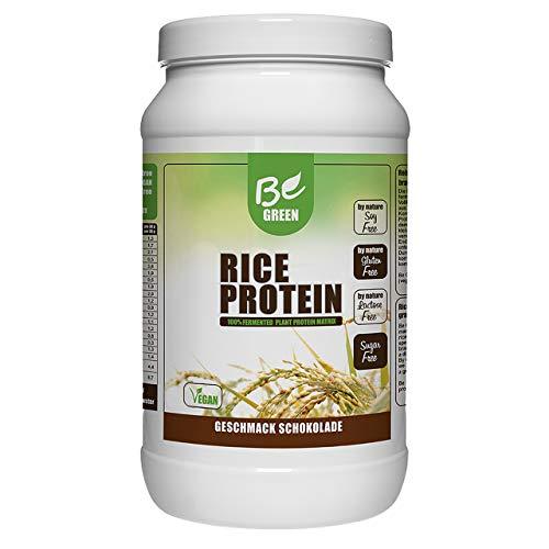 BeGreen Reisprotein 500g | Veganes Protein zum Muskelaufbau | Premium Proteinpulver, frei von Zucker, Aspartam u. Gluten (Schokolade)