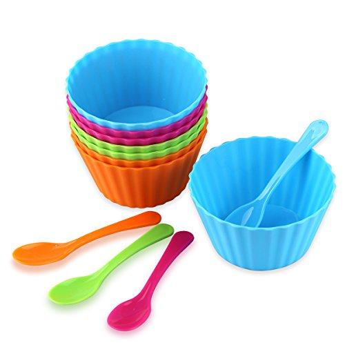 Eisbecher Plastik Farbe lebensmittel stapelbare Plastik-Schüsseln Plastik-Schalen Dessertbecher