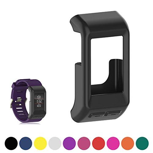 iFeeker funda de silicona para reloj de fitness para Garmin Vivoactive HR GPS , negro