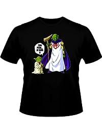 T-Shirt Manga - Parodie Yoda de Star Wars et Dieu de Dragon Ball Z - Ton père... Je suis !! - T-shirt Homme Noir - Haute Qualité (789)