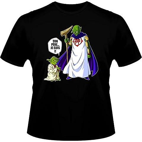 T-Shirt Manga - Parodie Yoda de Star Wars et Dieu