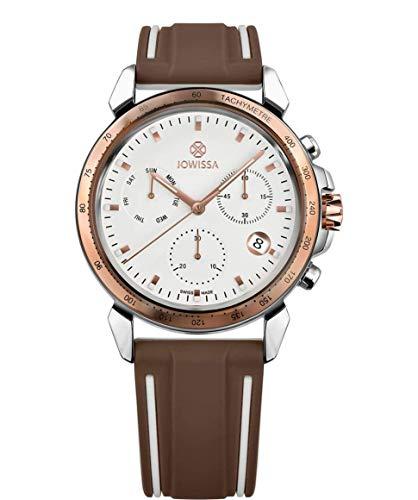Jowissa LeWy 9 Swiss J7.106.L - Reloj para Hombre, Color Blanco, marrón y Plateado