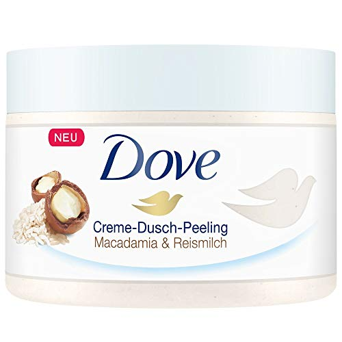 Dove Creme Dusch Peeling Macadamia und Reismilch,