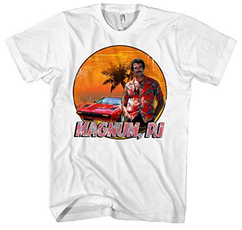 Magnum Männer und Herren T-Shirt | Spruch Kostüm Hemd Geschenk ||| M2 (L, Weiß) (Einfache Plus Size Kostüm Ideen)