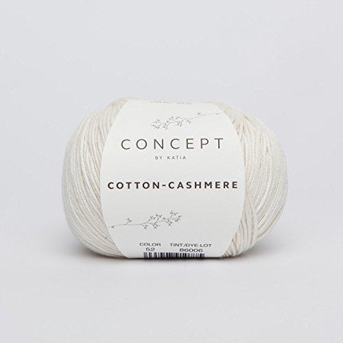 Cotton-Cashmere Garn von Katia in weiß (52) -