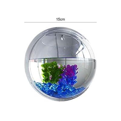 Maufy Wandbehang Aquarium Acryl Fisch Schüssel hängen dekorative Container Fisch Schüssel Wandbehang Aquarium aquatische Heimtierbedarf Heimtierprodukte