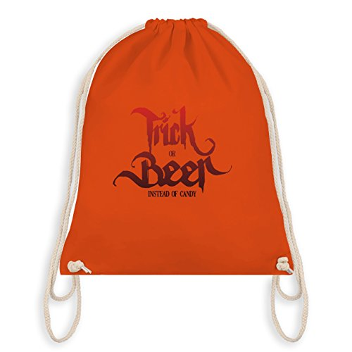 Beer Halloween Typo - Unisize - Orange - WM110 - Turnbeutel I Gym Bag (Bier-halloween-kostüme)
