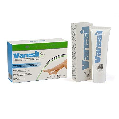 Varesil Pills + Varesil Cream: Pastillas y Crema para prevenir y aliviar las varices