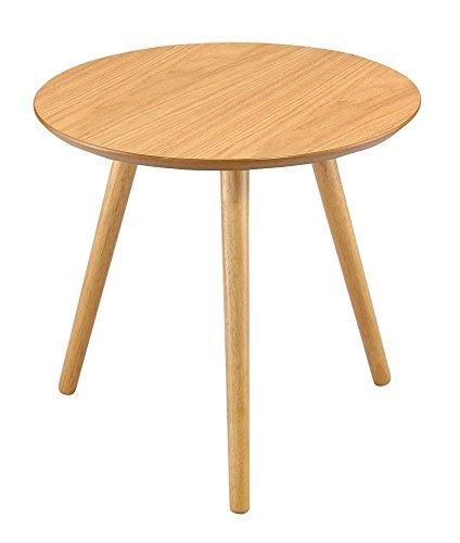 Aspekt Marco rund Seite/Ende/Lampe/Couchtisch, Holz, Eichenholz-Finish, 48x 46cm (Eiche Beistelltisch Runde)