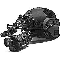 WTZWY PVS-14 Gafas de visión Nocturna Digital Monocular de visión Nocturna por Infrarrojos con Adaptador de Auriculares con Brazo en J Negro