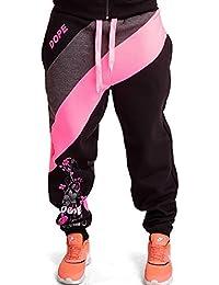 CHICK REBELLE Damen Dope Sporthose Fitnesshose Sweathose Jogginghose Freizeithose Laufhose Trainingshose Tanzhose Sweatpants mit Print 2862