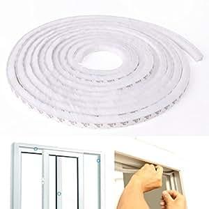 utsunomiya 5 m blanc joint brosse brosse joint brosse autocollant pour porte fen tre portes. Black Bedroom Furniture Sets. Home Design Ideas