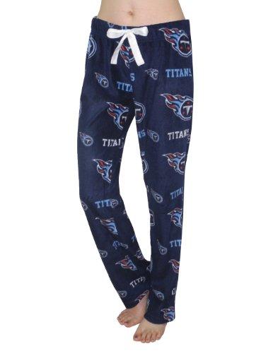 NFL Tennessee Titans Femme Polar Fleece Sleepwear / Pajama Pants sombre Bleu