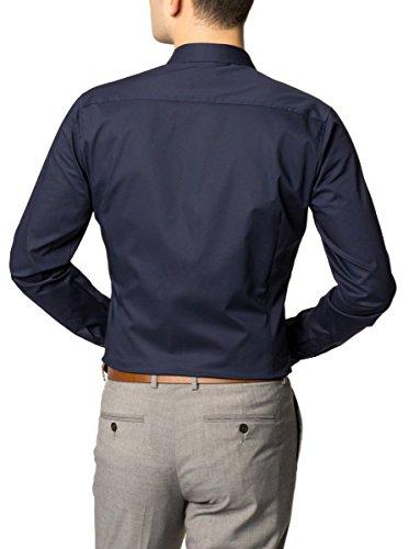 eterna Herren Businesshemd Blau (Marine 19)