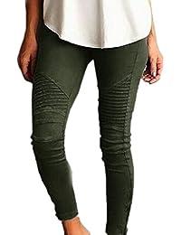 5ac3507f9b Las Mujeres Verano Casual Skinny Leggings Pantalones Pantalones Sólidos  Elásticos