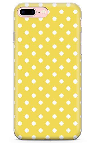 iPhone 7 Plus / 8 Plus Diseñador De La Salida del Sol Lunares Amarillos Funda de Teléfono de Goma Cover Moda Linda Tendencias Chicas Estilo