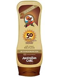 Australiana de protección solar de oro con SPF 50 Bronceado Agente 237 ml