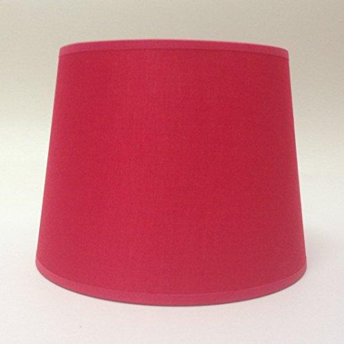 25,4 cm Rouge Empire Tissu de coton Abat-jour lumière Abat-jour Table fait à la main.