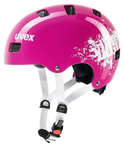 Uvex Kid 3 Casco da Bici per Bambini, Bambini, S4148191915, Pink Dust, 51-55 cm