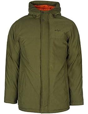 Lee Cooper Basic Parka chaqueta para hombre caqui chaquetas abrigos Outerwear, caqui, mediano