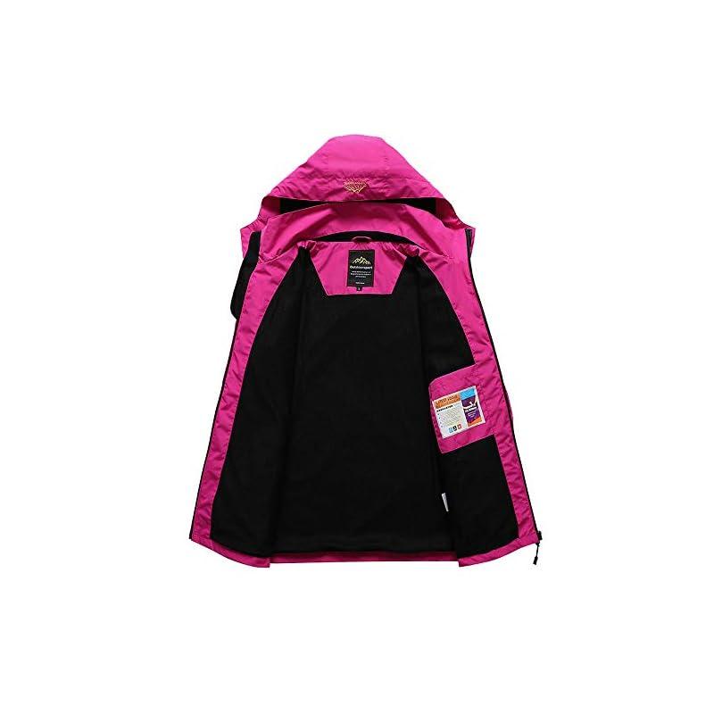 Volwassan Womens Waterproof Jacket Lightweight Mountain Outdoor Jacket Running Fishing Ladies Windproof Rain Coat with…