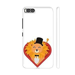 Colorpur Lion With Hat In Heart Artwork On Xiaomi Mi 6 Cover (Designer Mobile Back Case) | Artist: Torben