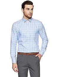 Park Avenue Men's Formal Shirt (8907663235881_PMSY09769-B3_Medium Blue_40)