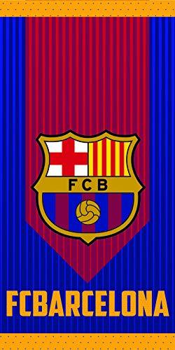 Toalla con licencia oficial del F.C. Barcelona. Toalla de Microfibra con tacto terciopelo. Medida 70x140 cm. Ideal para regalarse o para regalar a los más forofos del Barça.