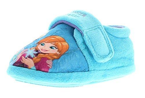 NEU jüngeres Mädchen / Kinder Hellblau Touch Verschluss Frozen Pantoffeln - hellblau - UK Größen 6-12 - Hellblau, EU 27 (Elsa-hausschuhe Für Mädchen)