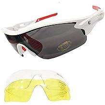 61436050fc VeloChampion Warp Gafas de Sol (con 3 lentes: inc ahumado, claro) Blanco