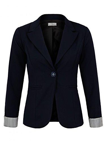 DANAEST Eleganter lässiger Doppelreihiger klassischer Business Blazer (625), Farbe:Dunkelblau, Blazer 1:42 / XL