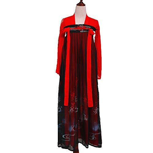YCWY Das alte chinesische Hanfu-Kleid der Frauen, traditionelles Han-Dynastie-Tang-Anzug Cosplay-Kostüm, gestickte traditionelle Weinlese Cosplay-Aufführungen tragen, Halloween Weihnachten,XL