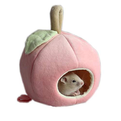 Kleintiere Hanging Nest Hamster Nest Dutch Pig Apple-Käfig Meerschweinchen Haus Für Das Kleintier Rosa 1 Stück